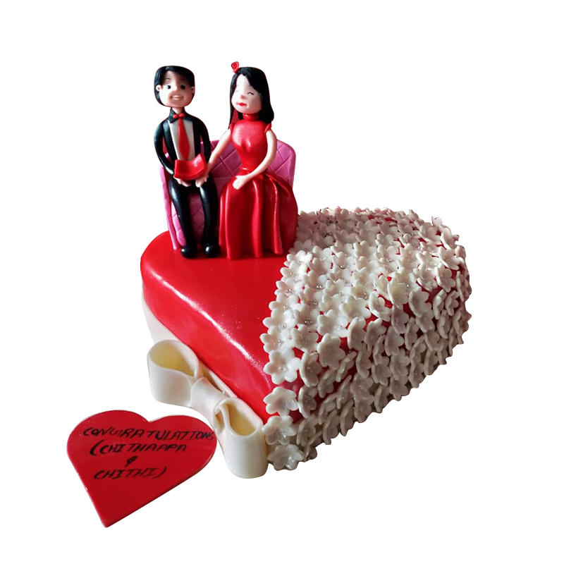 VC 005 Red Couple Cake