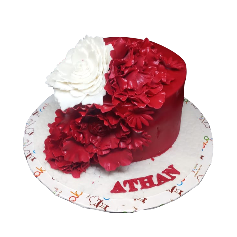 VC 008 Red Flower Cake